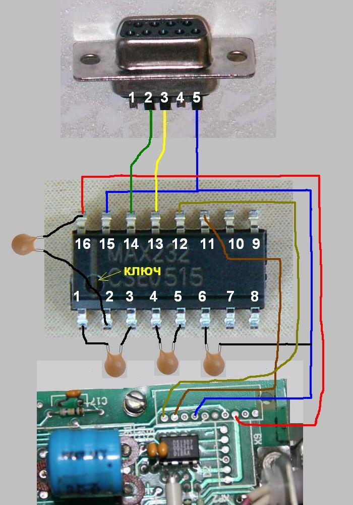 Схема расположения элементов.